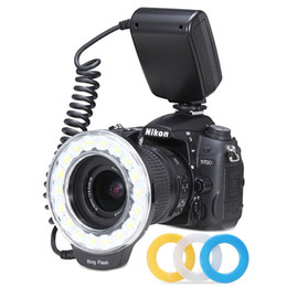 Wholesale New Macro LED Ring Flash Adapter RF D for Canon Nikon Panasonic Olympus