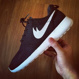 Wholesale 2016 Mens Womens Roshe Run BR Athletic running shoes London Olympic Mesh Breathable white black roshe run sports shoes