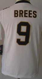 Wholesale Youth NIK Game Football Stitched Saints Blank Brees Cooks Vaccaro White Black Jerseys Mix Order