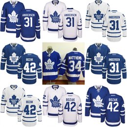 Wholesale Toronto Maple Leafs Jersey Men s Frederik Andersen Seth Griffith Jhonas Enroth Tyler Bozak Stitched Embroidery Logos Jerseys