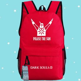 Red Dark souls backpack Praise the sun school bag Unisex daypack Quality schoolbag New game play day pack