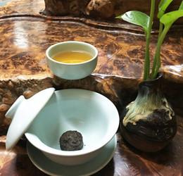 Hot sale black tea warm stomach Yunnan 150G Ripe pu er mini Wholesale Chinese tea compressde tea free ship