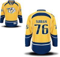 Wholesale NHL Nashville Predators P K SUBBAN Yellow Hockey Jerseys Stitched Mix Order