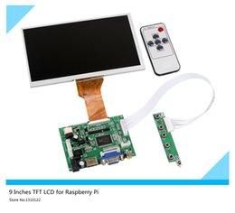 Wholesale 9 Inches Raspberry Pi LCD Display Screen TFT Monitor AT090TN12 with HDMI VGA Input Driver Board Controller