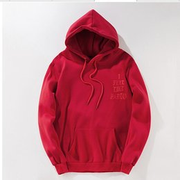 Wholesale I feel like pablo hoodie Menhoodies long sleeve fleece the life of pablo kanye west hoodie sweatshirts red blue color