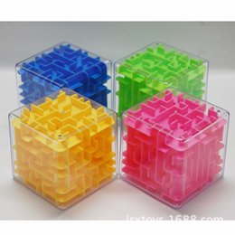 Hot Sales Classical 8*8*8cm 3D Maze Alpinia Oxyphylla Interesting 720 Degree Rotation Rubik's Cube Toys For Children ZD018B