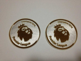 2pcs Lot 15-16 Premier League golden champions soccer patch ,EPL golden soccer Badges for Leicester City Free shipping!