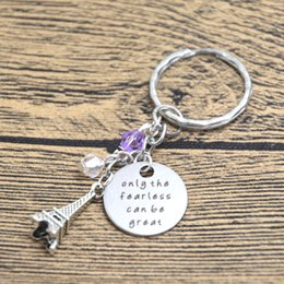 Wholesale 12pcs Ratatouille Inspired Keyring Remy the rat in Paris Quote Only the Fearless can be Great crystal keychain