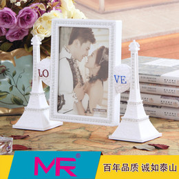 Wholesale 7 inch Family photo frame EU Eiffel tower rectangle ABS eco friendly material picture frame home decoration