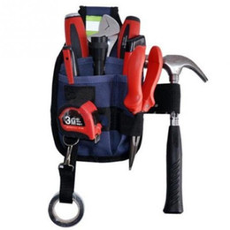 Wholesale 3 Pocket Professional Electrician Tool Belt Utility Pouch Work w Tape Buckle Conveniet Tool Bag for Your Good Choice