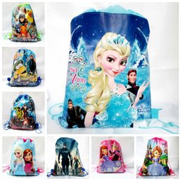 Wholesale 2016 New Avengers frozen Spiderman drawstring bags backpacks handbags children school cartoon kids shopping bags Cheap