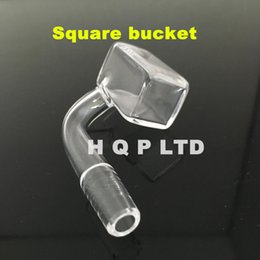 Wholesale Sugar cube banger nail Domeless square quartz nails for e nails kit Quartz banger nail domeless for Dnail Oil rigs nails
