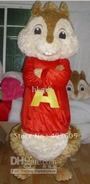 Wholesale OISK Alvin and the Chipmunks Mascot Costume Animal Suit Halloween Christmas Birthday Full Body Props Costumes Outfit