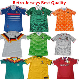 Wholesale Soccer Jersey France World Cup Retro Football Shirts Mexico Green Shirts Netherland Germanys Argentina Brazil Retro Jersey Beckham