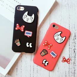 Lovely Cartoon Cell Phone Cases 3D Cats Bow Phone Covers with TPU for iphone 7 7plus 6S 40
