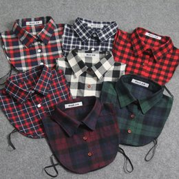 Fake Collar shirts Detachable Shirt Collars cotton man woman sweater accessories Classic Plaid All Matching adult unisex