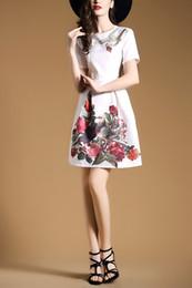 Free Shipping The Summer New Arrive Women dress Print dress A-Line Short Sleeve O-Neck Work dress Size S-XXL.