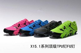 Wholesale Men s Meysey s top X FG AG football soccer shoes mixed artificial grass ace broken tf child Colors