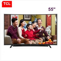 Promotion tv lcd 55 TCL 55 pouces Dual système de haut-parleurs cascade + TV courbe Full HD LED TV LCD WIFI Android Android TV 1920 * 1080