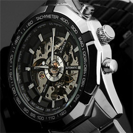 2016 Fashion Brand Winner Stainless Steel Self Wind Automatic Mechanical Men Watch For Men sports Wristwatch DISCOUNT! Wholesale