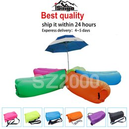Wholesale US stock lamzac inflatable air lounge sleepping bag hangout Laybag KAISR Beach Sofa Lounge only Seconds Quick Open Lay bag