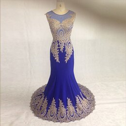 Attractive Jewel Neck Sleeveless Ladies Lace Mermaid Prom Dresses Women Prom Dress Real Made See Through Back Fashion Long Gown