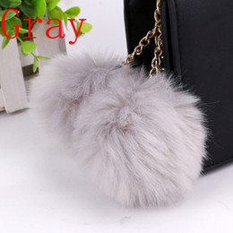 Multi Colors Faux Rabbit Soft Fur Balls Keychain Cute Purse Charms Key Chain Car keyRings Wholesale