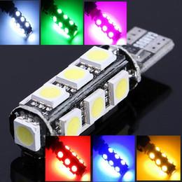 10pcs lot T10 13 smd 5050 led Canbus Error Free Car Lights BULB W5W 194 13Smd Light Bulb Shipping Car Lamp