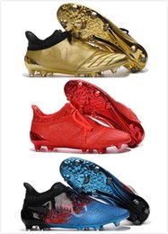 Wholesale Popular Soccer Shoes X Purechaos Firm Ground Cleats Cheap Football Boots High Ankle Soccer Cleats Mens FG AG low cost online sale