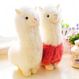 Wholesale Lovely cm Cartoon Alpaca Plush Doll Toy Fabric Sheep Soft Stuffed Animal Plush Llama Yamma Birthday Gift For Baby Kid Children