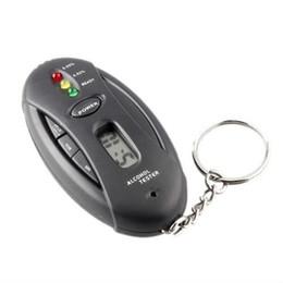 Portable Mini Digital Breathalyzer Keychain Détecteur d'alcool testeur d'alcool avec lampe de poche LED et minuterie à partir de alcool trousseau fournisseurs
