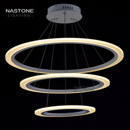 3 Rings Circles Modern LED Pendant Lights adjust length for Dining Room White Acrylic LED Pendant Lamp Contemporary Warmwhite Coldwhite