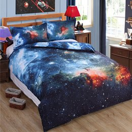 Wholesale Galaxy Sky Cosmos Night Pattern D Printed Queen Size Bedding Quilt Duvet Cover Set Multicolor Available for Shipment Exclusively within the