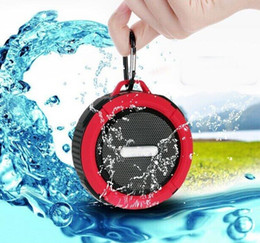 Wholesale 2016 Wireless bluetooth mini speaker Outdoor Waterproof Portable BLUETOOTH SPEAKER C6 IPX7 With Bathroom Suction Cup For Iphone Android