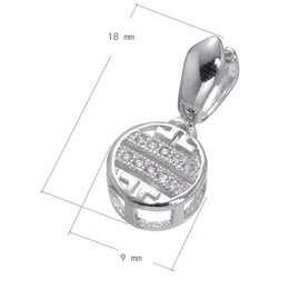 2016 Popular Backpack Zipper Charm CZ Micro Inlay Brass Pendant Buckle Melon Seeds Clip Platinum Plated 18x9mm 15 PCs Lot