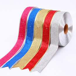 Wholesale New Arrived CM Christmas Coloured Ribbon Decoration Riband Metre yard A Roll Satin Ribbon Wedding And Celebration Party P C