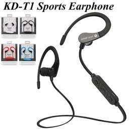 KD-T1 Sport Headset Earphone Fashion Wireless Bluetooth Sports V4.0 Stereo Earbuds With Microphone &noise cacelling function EAR193