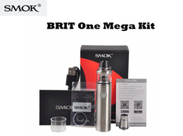 Wholesale Authentic SMOK BRIT One Mega Kit mah Brit Sub tank ml capacity with Misub Plus battery and Intelligent battery life indicator