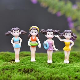 New hotsale mini bikini girls fairy garden miniatures mini gnomes moss terrariums resin crafts figurines for garden decoration