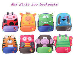 Free Ship High Quality Boy Girl Cartoon Animal Backpack Children's Kindergarten Preschool backpack Kids Daypack Baby gifts 8 Styles