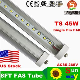 8 feet led tubes single pin t8 FA8 Single Pin LED Tube Lights 45W 4800Lm Bulbs 2400MM led lights LED Fluorescent Tube 85-265V