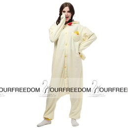 Wholesale AC001 In Stock Chicken Anime Cartoon Cosplay Party Costumes Comfy Leisure Animal Onesies Pajamas Jumpsuit Teens Adults Homewear Cheap Sale