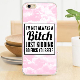 Wholesale I Am Not Always A Bitch Pink Background Soft TPU Case for iPhone S S SE C Plus Skin