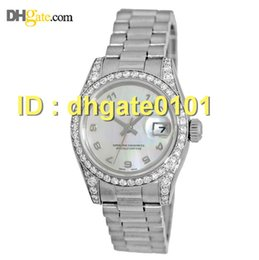 Wholesale new watches K White Gold President Crown Collection Factory Diamond Box