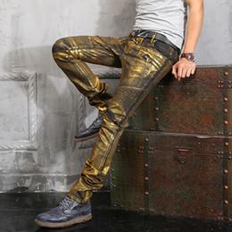 Wholesale 2016 Hot Balmain vintage Jeans Spray on Hiphop Cargo Pants zipper pocket Demin Jeans Robin jeans for men silve Golden Black