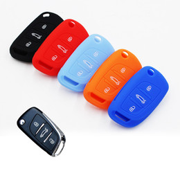 2016 New Car Styling Folding Silicone Key Cover For 3 Buttons Citroen C5 Five Colors High Quality