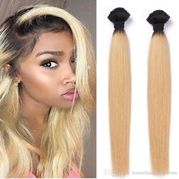 Brazilian Ombre Color Human Hair Bundles 100% Unprocessed Virgin Hair Extensions High Quality 2pcs lot T1B  613 Double Weft Free Shipping