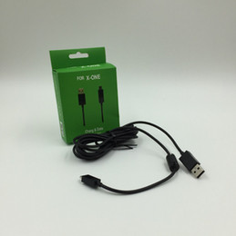Promotion charge de contrôleur sans fil xbox XBOX ONE USB Câbles Chargeurs sans fil gamed Controller ligne de date de recharge Chargeur avec LED Light Component 2.7m Câble adaptateur pour xbox un
