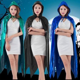 Wholesale Fashion Horrible Hooded Cloak Coat Wicca Robe Witch Capes Shawl Halloween Party Costums SW0289