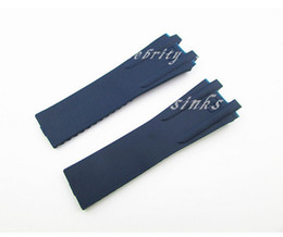 27mm NEW High quality Rubber blue Diver Watch Strap Band